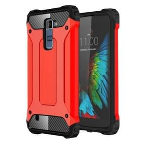 Tough Armor TPU + PC Combination Case For LG K10 (Red)
