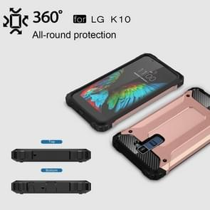 For LG K10 Tough Armor TPU + PC Combination Case(Rose Gold)