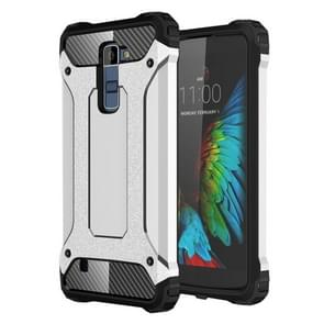 For LG K10 Tough Armor TPU + PC Combination Case(Silver)