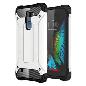 Tough Armor TPU + PC Combination Case For LG K10 (White)