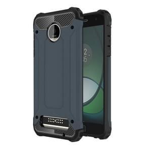 For Motorola Moto Z Play Armor TPU + PC Combination Case(Dark Blue)