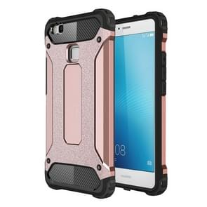 For Huawei  P9 Lite Tough Armor TPU + PC Combination Case(Rose Gold)