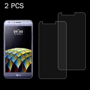2 PCS for LG X Cam 0.26mm 9H Surface Hardness 2.5D Explosion-proof Tempered Glass Screen Film