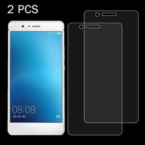 2 PCS for  Huawei P9 Lite 0.26mm 9H Surface Hardness 2.5D Explosion-proof Tempered Glass Screen Film
