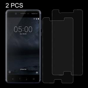 2 PCS for Nokia 5 0.26mm 9H Surface Hardness Explosion-proof Non-full Screen Tempered Glass Screen Film