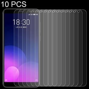 10 stuks 0 26 mm 9 H oppervlaktehardheid 2.5D volledig scherm getemperd glas Film voor Meizu M6T
