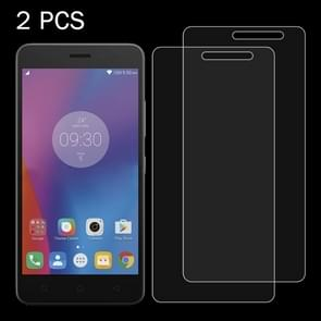 2 PCS for Lenovo K6 & A Plus 0.26mm 9H Surface Hardness 2.5D Explosion-proof Tempered Glass Screen Film
