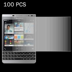 100 PCS for BlackBerry Passport Silver Edition 0.26mm 9H Surface Hardness 2.5D Explosion-proof Tempered Glass Screen Film