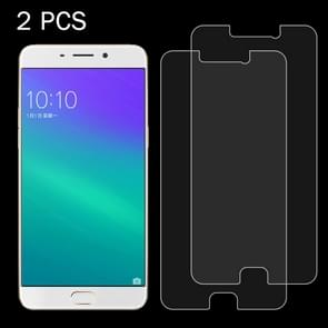 2 PCS OPPO R9 0.26mm 9H Surface Hardness 2.5D Explosion-proof Tempered Glass Screen Film