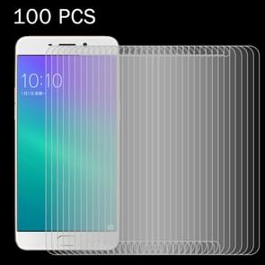 100 PCS OPPO R9 0.26mm 9H Surface Hardness 2.5D Explosion-proof Tempered Glass Screen Film