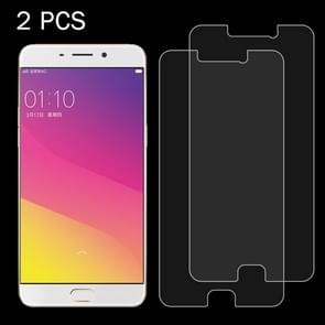 2 PCS OPPO R9 Plus 0.26mm 9H Surface Hardness 2.5D Explosion-proof Tempered Glass Screen Film