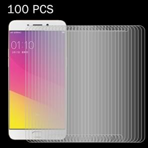 100 PCS OPPO R9 Plus 0.26mm 9H Surface Hardness 2.5D Explosion-proof Tempered Glass Screen Film