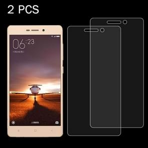 2 PCS for  Xiaomi Redmi 3 & 3S 0.26mm 9H Surface Hardness 2.5D Explosion-proof Tempered Glass Screen Film