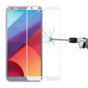 For LG G6 0.3mm 9H Surface Hardness 2.5D Curved Silk-screen Full Screen Tempered Glass Screen Protector(White)