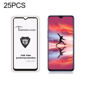 25 PCS MIETUBL Full Screen Full Glue Anti-fingerprint Tempered Glass Film for OPPO Realme 3 Pro (Black)