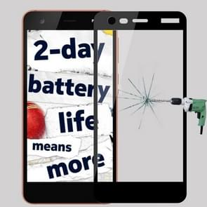 MOFI for Nokia 2 9H Surface Hardness 2.5D Arc Edge Full Screen Tempered Glass Film Screen Protector (Black)