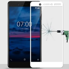 MOFI for Nokia 7 9H Surface Hardness 2.5D Arc Edge Full Screen Tempered Glass Film Screen Protector (White)