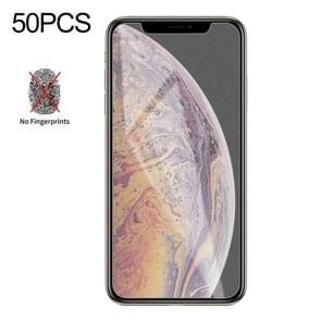 50 stuks non-Full matte Frosted gehard glas film voor iPhone XS Max/XI Max (2019)  geen retail pakket