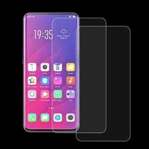 2 PCS 0.33mm 9H 2.5D Tempered Glass Film for OPPO Find X