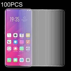 100 PCS 0.33mm 9H 2.5D Tempered Glass Film for OPPO Find X