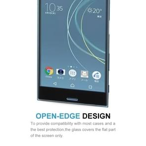 For Sony Xperia XZs 0.33mm 9H Surface Hardness 3D Curved Full Screen Tempered Glass Screen Protector(Black)