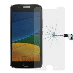 50 stuks voor Motorola Moto G (5e Gen.) 0 26 mm 9H oppervlaktehardheid Explosieveilig niet-volledig scherm getemperd glas scherm Film