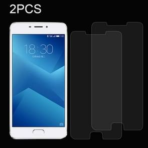 2 PCS for  Meizu M5 Note 0.26mm 9H Surface Hardness Explosion-proof Non-full Screen Tempered Glass Screen Film