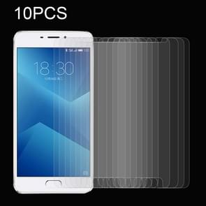 10 PCS for  Meizu M5 Note 0.26mm 9H Surface Hardness Explosion-proof Non-full Screen Tempered Glass Screen Film