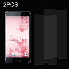 2 PCS for HTC U Ultra 0.26mm 9H Surface Hardness Explosion-proof Non-full Screen Tempered Glass Screen Film