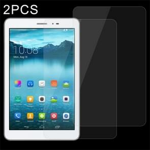 2 PCS 8 inch Universal 0.4mm 9H Surface Hardness Tempered Glass Screen Protector