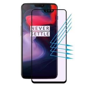 ENKAY Hat-Prince 0.2mm 9H 3D Anti Blue-ray Full Screen Carbon Fiber Tempered Glass Film for OnePlus 6(Black)