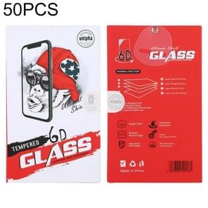 50 PCS Hard Cardboard + Foam Packaging Box voor Tempered Glass Film Screen Protector