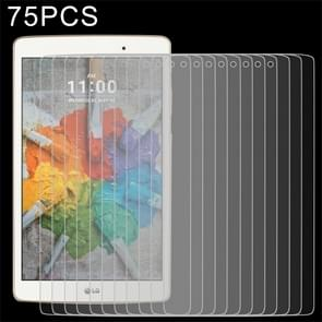75 PCS 0.3mm 9H Full Screen Tempered Glass Film for LG G Pad X 8.0