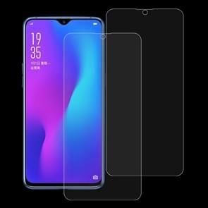 2 PCS 0.26mm 9H 2.5D Tempered Glass Film for OPPO R17 & R17 Pro
