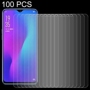 100 PCS 0.26mm 9H 2.5D Tempered Glass Film for OPPO R17 & R17 Pro