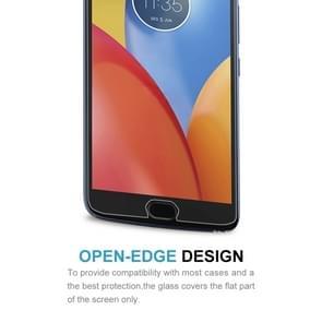 Voor Motorola Moto E4 Plus 0.3mm 9H oppervlaktehardheid 2.5D explosieveilige gehard glas niet-volledig scherm Film