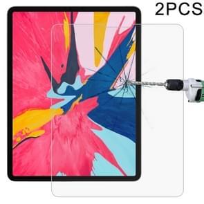 2 stk 0 26 mm 9H oppervlakte hardheid Straight Edge Explosieveilig Tempered glas Film voor iPad Pro 12 9 (2018)