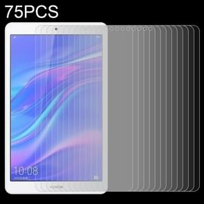 75 PCS 9H Surface Hardness 8 Inches Anti-fingerprint Explosion-proof Tempered Glass Film for Huawei Honor Tab 5