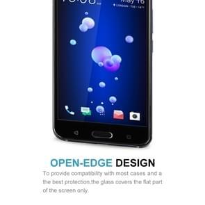 HTC U11 Gehard glazen schermprotector 0.33mm 9H hardheid (zwart)