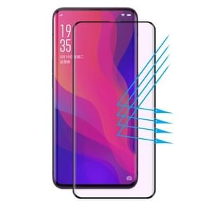 ENKAY Hat-Prince 0.26mm 9H 3D Anti Blue-ray Full Screen Heat Bending Tempered Glass Film for OPPO Find X (Black)