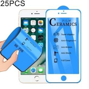 25 PCS 2.5D Full Glue Full Cover Ceramics Film voor iPhone 6 Plus (Wit)