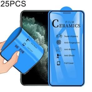 25 PCS 2.5D Full Glue Full Cover Ceramics Film for iPhone XS Max / 11 Pro Max