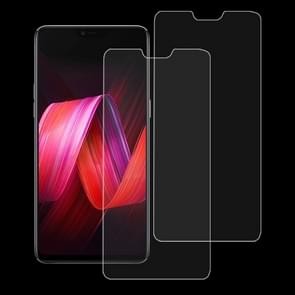 2 PCS 9H 2.5D Tempered Glass Film for OPPO R15 / R15 Pro