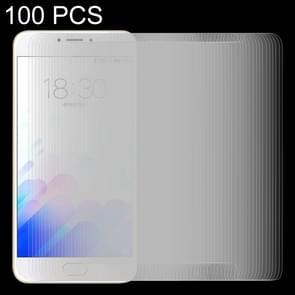 100 stuks Meizu M3 Opmerking / Meilan opmerking 3 0 26 mm 9H oppervlaktehardheid 2.5D explosieveilige getemperd glas scherm Film