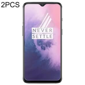 2 Piece 0.3mm TPU Full Screen Protection Soft film for Oneplus 7