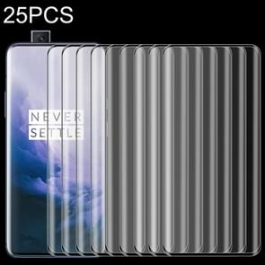 25 PCS 9H Full Screen Curved Edge Tempered Glass Film for OnePlus 7 Pro
