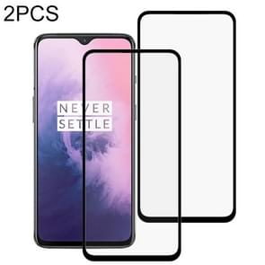 2 PCS 9H Full Screen Curved Edge Tempered Glass Film for OnePlus 7