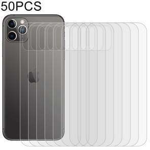 50 PCS For iPhone 11 Pro Max Soft Hydrogel Film Full Cover Back Protector