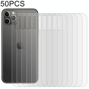 50 PCS For iPhone 11 Pro Soft Hydrogel Film Full Cover Back Protector