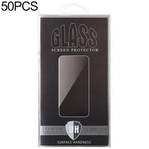 50 PCS Paper Outer + Plastic Inner Packaging Box voor Tempered Glass Screen Protector